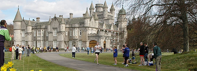 Balmoral Castle the backdrop to the race